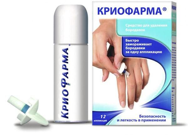 заморозка наростов препаратом