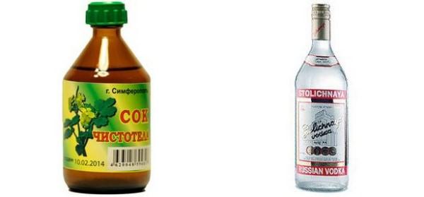 водка с чистотелом рецепт